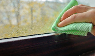 Cleaning Water  Condensation On Window